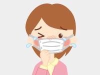 くしゃみ、鼻水、鼻づまり、目のかゆみなどの症状が出る